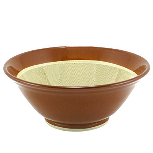 Japanese 14'' Diameter Ceramic Suribachi Mortar Food Preparation Bowl