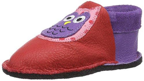 Pololo Pololo Kiga Eulalia - Zapatillas de casa Bebé-Niños rojo (rojo)