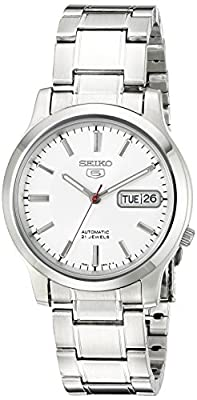 Seiko Men's SNK789 Seiko 5 Automatic Stainless Steel Watch with White Dial by Seiko