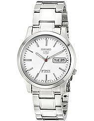 Seiko Mens SNK789 Seiko 5 Automatic Stainless Steel Watch with White Dial