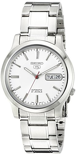 Se White Dial - Seiko Men's SNK789 Seiko 5 Automatic Stainless Steel Watch with White Dial