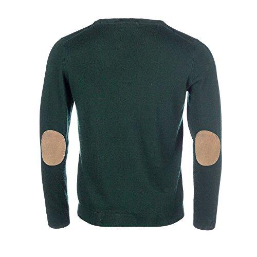 zuverlässige Leistung neues Erscheinungsbild große Vielfalt Stile ALLBOW Dunkel-Grüner Pullover Ellenbogen-Patches, Herren ...