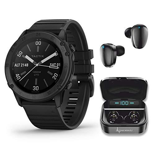 Wearable4U Garmin tactix Delta, Premium Black GPS Smartwatch with Included Bundle