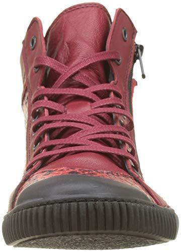 Rouge 354 Pataugas Sangria Baskets S Femme Bono F4d Hautes 6Z7YAx