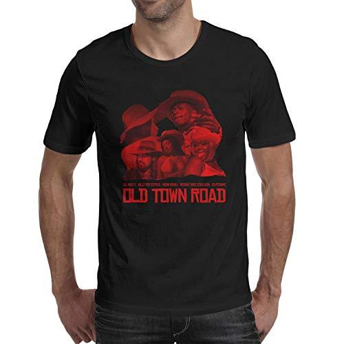 Sounthhery Men's Tee Lil-NAS-X-&-Billy-Ray-Cyrus-Old-Town-Road- T-Shirt (T-shirt Billy Ray Cyrus)