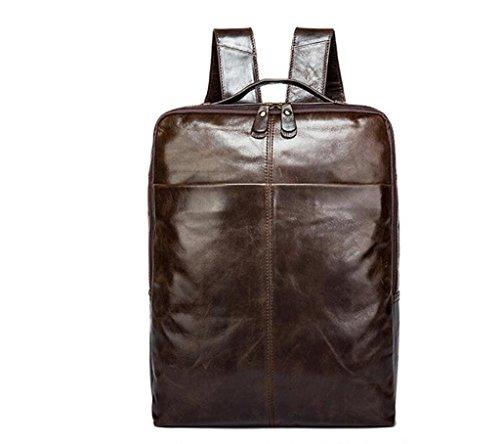 SHOUTIBAO Zaino da uomo in pelle/borsa a tracolla doppia/borsa computer/Zaino da uomo/borsa da viaggio, da viaggio/scuola, 1 3
