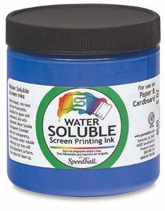 Speedball Water Soluble Screen Printing - Speedball Watersoluble Screen Printing Ink Blue 8OZ