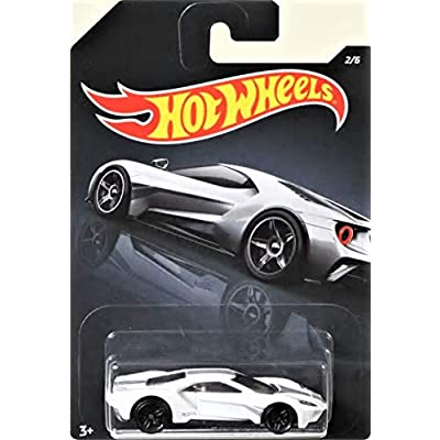 2020 HW Wal-Mart Exclusive White '17 Ford GT Exotics Mix Series 2/6 Die Cast Car: Toys & Games