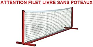 Filet mini-tennis polypropylène Ø 2.5mm vert. Longueur 4m BWA Sports TN93433