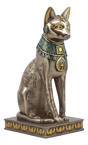 Ebros Bronzed Ancient Egyptian Sitting Cat Bastet Statue 12.5