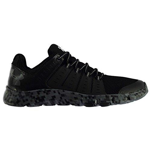 Reebok Hombre Delta Zapatillas Cordones Deporte Running Cruzar Entrenar Zapatos Black/Grey