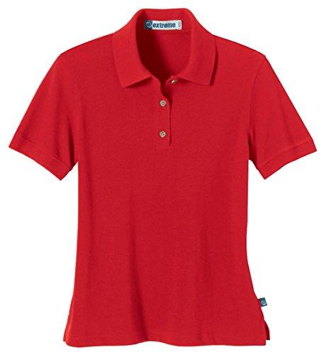 Ash City Women's Ladies' Short Sleeve Pique Polo Shirt, L, Red