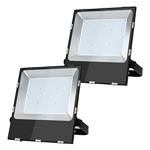 2 PCS 200W 24000LM 6500K White LED Flood Light Outdoor Waterproof Soccer Stadium Sports Lighting