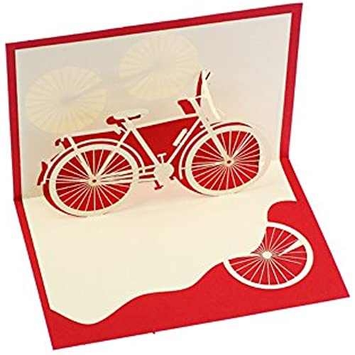 Creative 3D Bicycle Handmade Paper Greeting Card Birthday Cards Custom Gift Cards Sales