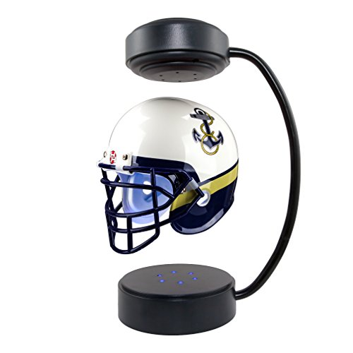 Navy Midshipmen NCAA Hover Helmet - Collectible Levitating Football Helmet with Electromagnetic Stand