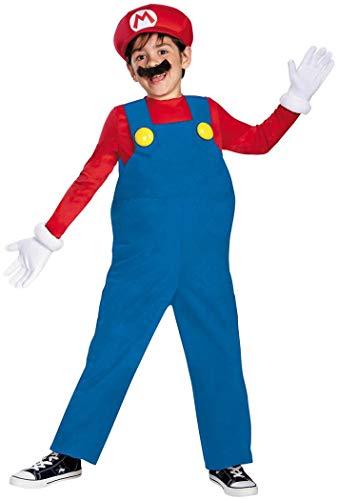 Mario and Luigi Child Costume Mario (red & blue) - Large