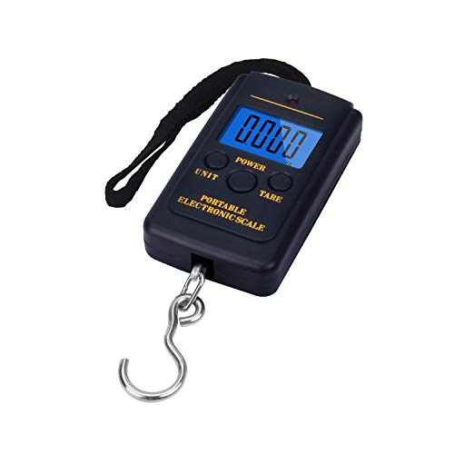 NEXT-SHINE Fish Weighing Scale LS-H241 88lb/ 40kg Pocket Size Muti-Functional Pro Scale with Tare, Back-lit LCD Display for Fishing, Postal Parcel, Kitchen, Home