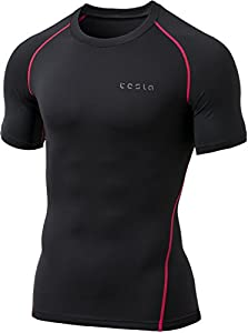 Tesla Men's Short Sleeve T-Shirt Cool Dry Compression Baselayer MUB73 / TUB103 / R13 / R14