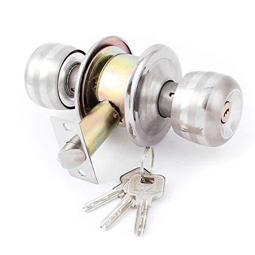 LUOYIMAO Home Dormitory Single Tongue Bolt Door Locking Latch Lock w 3Keys (ZUO-60)