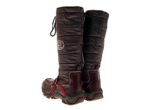 WATERPROOF UK ZIP SKI WELLINGTON 1 LADIES LINED WARM MUCKER WELLIES SNOW GIRLS KNEE 5 Brown HIGH BOOTS SIZE Burgundy WOMENS KIDS FUR WINTER UYq0P