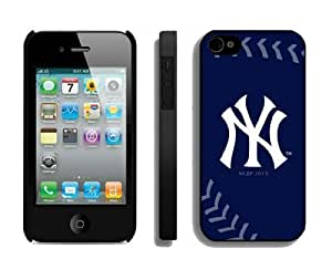 Best Iphone 4/4s Case Cover Mlb New York Yankees Sport Design Coolest Phone Protector