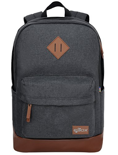Sports Rucksack - EBOX 2-Layer School Backpack Laptop Rucksack Fits 14 15 15.6 Inch Travel BusinessDaypack Casual College Backpack Unisex Gym Bag Water-Resistant Sports Hiking Camping Weekend Bag