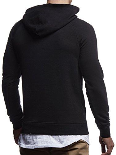 À Pullover Nelson Capuche Leif Hoodie Schwarz Pull Des 2in1 Sweatshirt Hommes Pour Ln8125 qIwYwx46S