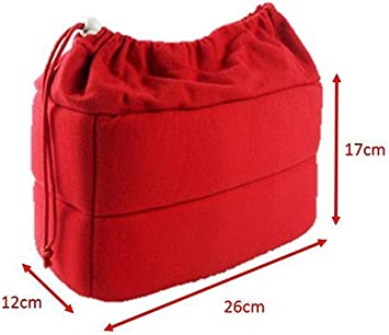L-Peach DSLR SLR Camera Insert Bag Camera Inner Shockproof Case Bag with Removable Partition Padded for Camera Lens Accessories 26x12x17cm