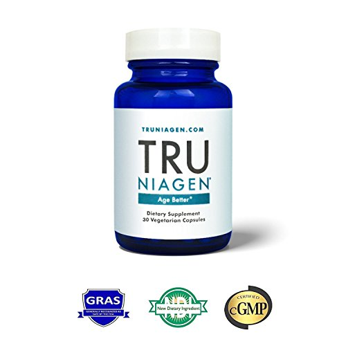 TRU NIAGEN - Niacin (Vitamin B3) | Advanced NAD+ booster | Nicotinamide Riboside NR | Increases Energy & Promotes Anti Aging (30 capsules/125mg)
