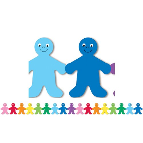 Hygloss Products Rainbow People Die-Cut Bulletin Board Border - Classroom Decoration - 3 x 36 Inch, 12 Pack]()