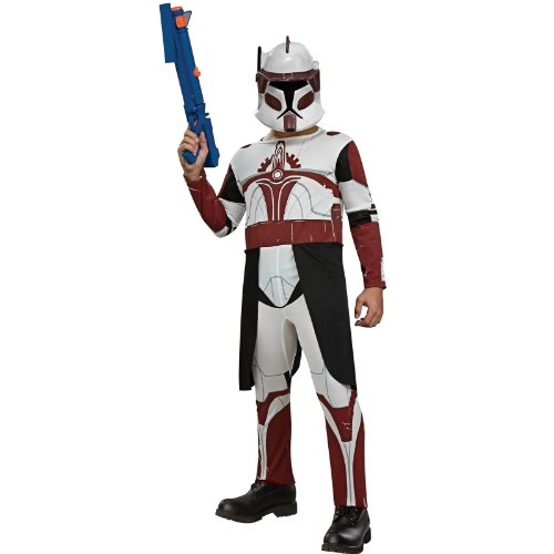 Star Wars Clone Wars Clone Trooper Child's Commander Fox Costume, Small