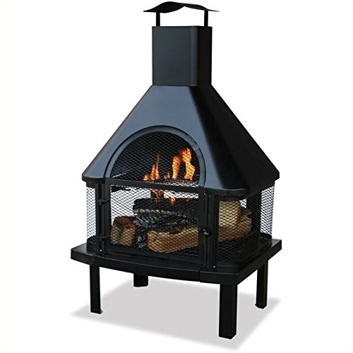 Uniflame Firehouse with Chimney, Black from Uniflame