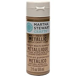 Martha Stewart Crafts Multi-Surface Metallic Acrylic Craft Paint in Assorted Colors (2-Ounce), 33001 Rose Gold