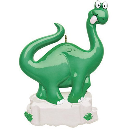 Personalized Brachiosaurus Dinosaur Christmas Tree Ornament 2019 - Cute Jurassic Animal Toy Enjoying Greens Rock Fantastic Tale Story Play Boy Toddler Holiday Kid Child Year - Free Customization -