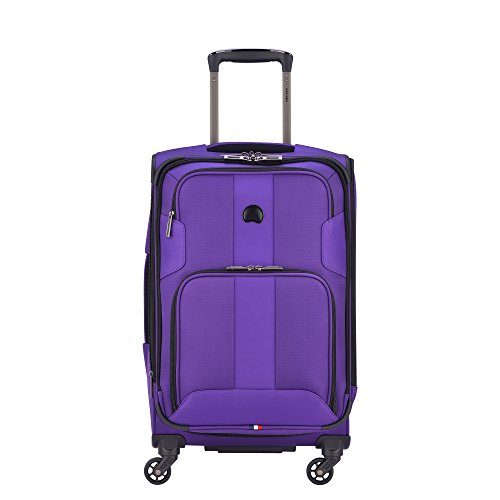 DELSEY Paris Sky Max 2.0 Softside Expandable Luggage with Spinner Wheels, Purple, Carry-on 21 Inch,40328280508