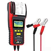 #LightningDeal ANCEL BST500 12V/24V 100-2000 CCA Automotive Battery Load Tester, Cranking and Charging System Analyzer Scan Tool with Printer for Heavy Duty Trucks, Cars, Motorcycles and More (Black and Red)