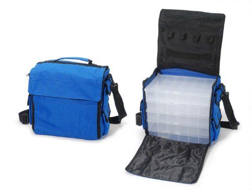 Darice 1027-37 Nylon Carry Bag with 5 Bead-Ready Organizers, Assorted Colors