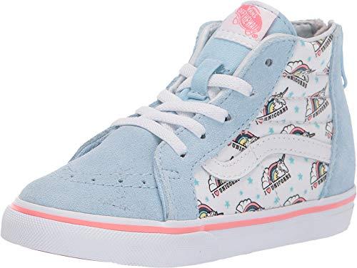 Vans SK8-HI Zip (Unicorn) Cool Blue/True White Toddler 8.5]()