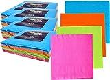 """Neon Color Colored Premium Napkins 13"""" x 13"""" 2"""