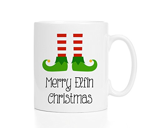 [Holiday Egg Nog Mug Merry Elfin Christmas Coffee Cup 11oz] (Eggnog Cups)