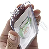 Clear Plastic Luggage Identification Tags with