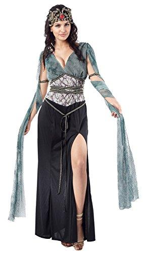 Ladies Sexy Dark Medusa Greek Mythology Goddess Monster Gorgon Fancy Dress Costume Outfit 10-12-14 (UK -