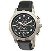 Fossil Chronograph Black Dial Men's Watch –...