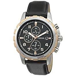 Fossil Chronograph Black Dial Men's Watch – FS4545