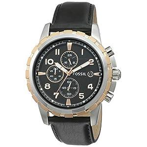 Fossil Chronograph Black Dial Men's Watch – FS4545