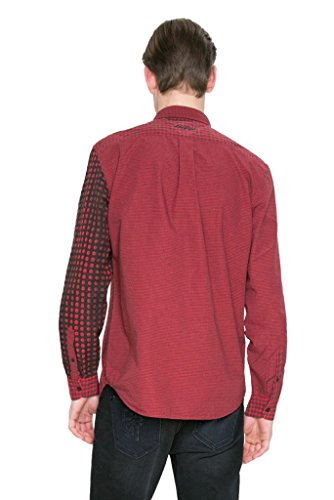 Isma 17wmcw98 Homme Chemise Desigual Rouge FqO8xE1Yw