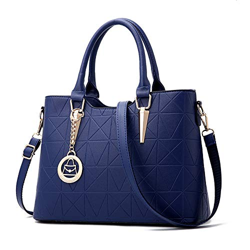 l Handbag Medium Quilted Shoulder Bag with Adjustable Cross Body Straps - Royal Blue ()