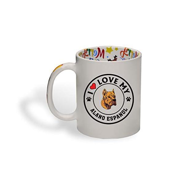 Ceramic Christmas Coffee Mug I Love My Alano Espanol Dog Style A Funny Tea Cup 1