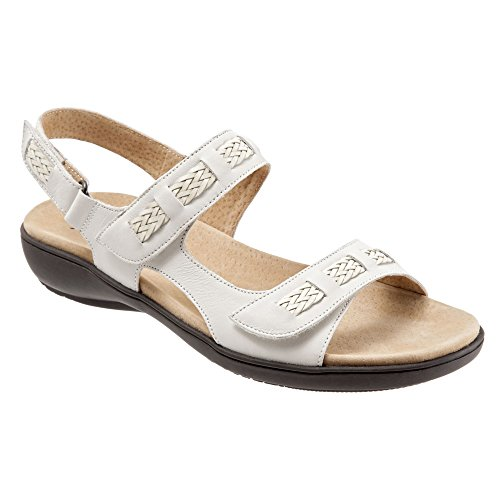 sale low cost good selling for sale Trotters Women's Kip Flat Sandal Off-white Vegetable Calf Leather purchase sale online clearance deals deals cheap price YJejZ1ca