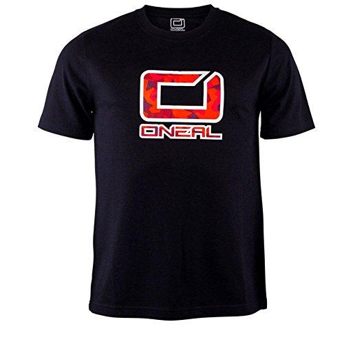 O'Neal Slickrock T-Shirt Fahrrad MTB Schwarz Rot Sport Freizeit DH FR, 0083P-40, Größe X-Large